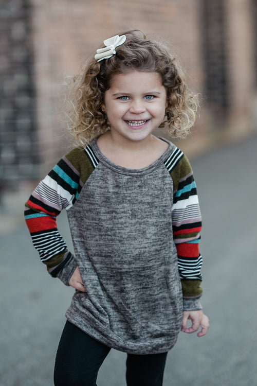 KIDS STRIPED RAGLAN TOP