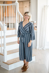 DON'T WORRY ABOUT THIS STRIPED JUMPSUIT