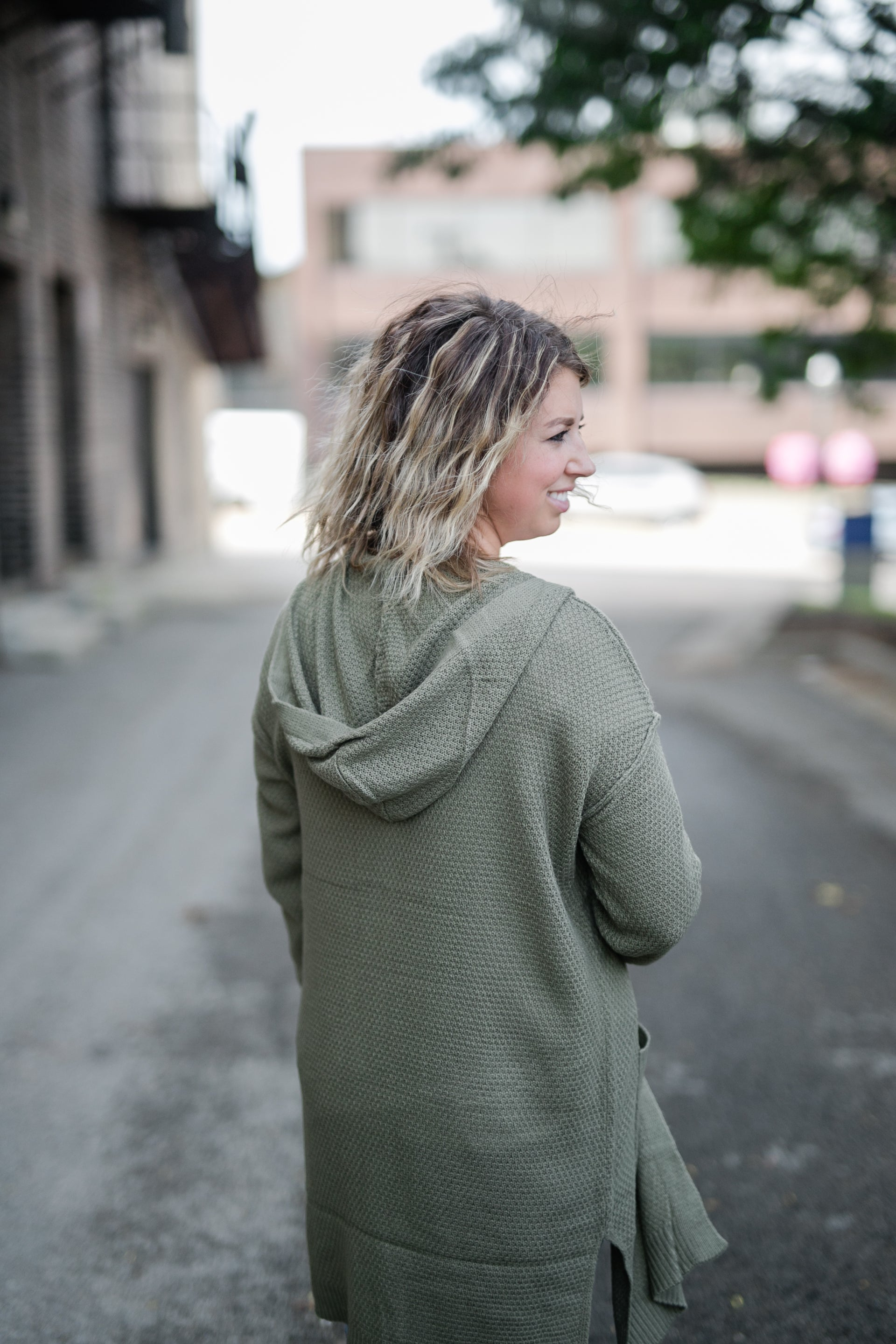 CHILL BY CHOICE OLIVE CARDIGAN