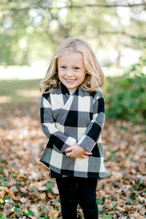 KIDS CHECK PLAID CARDIGAN