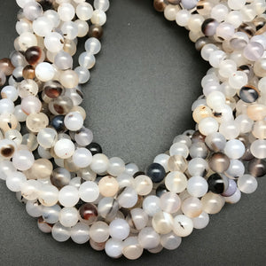 Montana Agate 8mm Round Beads