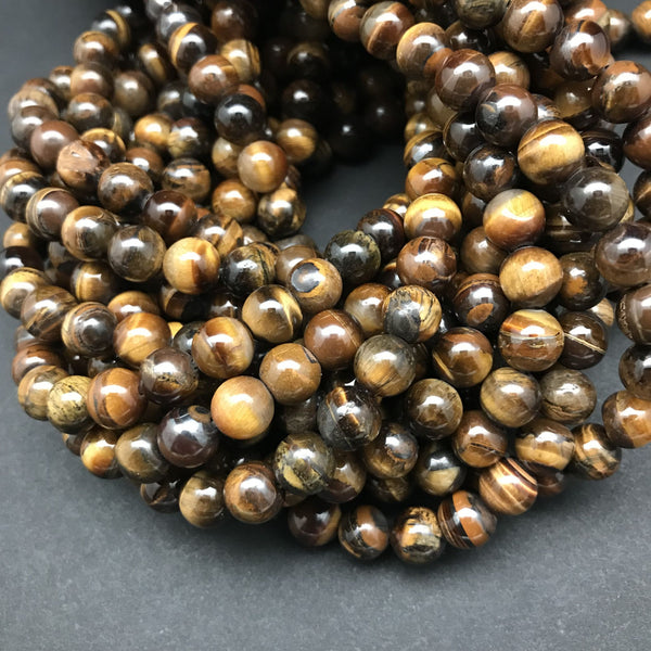 Tiger Eye, Golden Brown Beads - 8mm