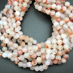 Montana Agate Matte Autumn Tones 8mm Round Beads