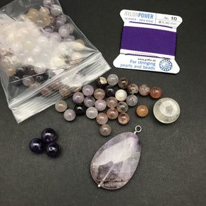 Mala Bead Kit: Super Seven, Amethyst, Citrine