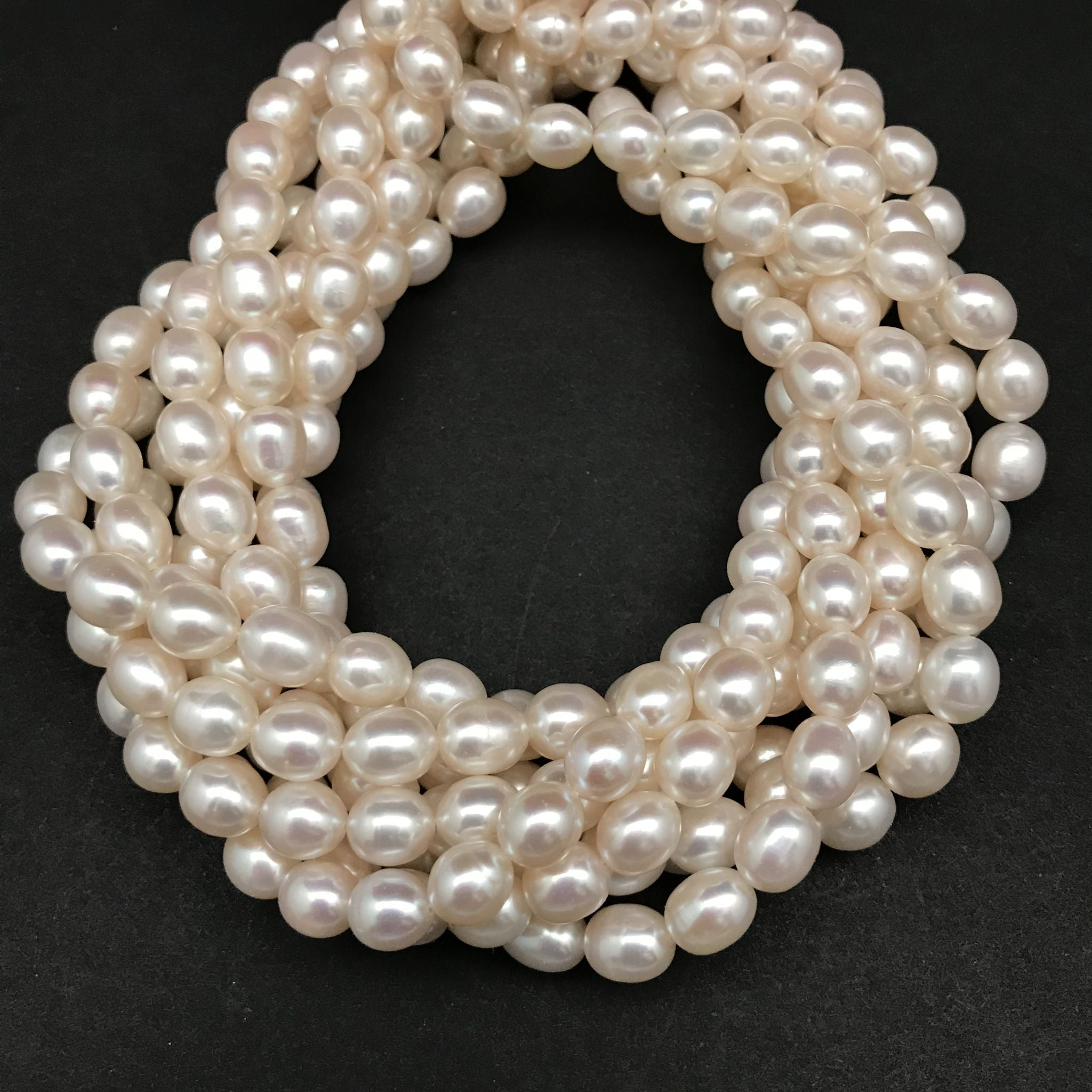 Pearls, White Perfect Oval, 9mm