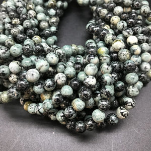 African Turquoise Round Beads - 8mm