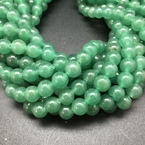 Green Aventurine Round Beads - 8mm