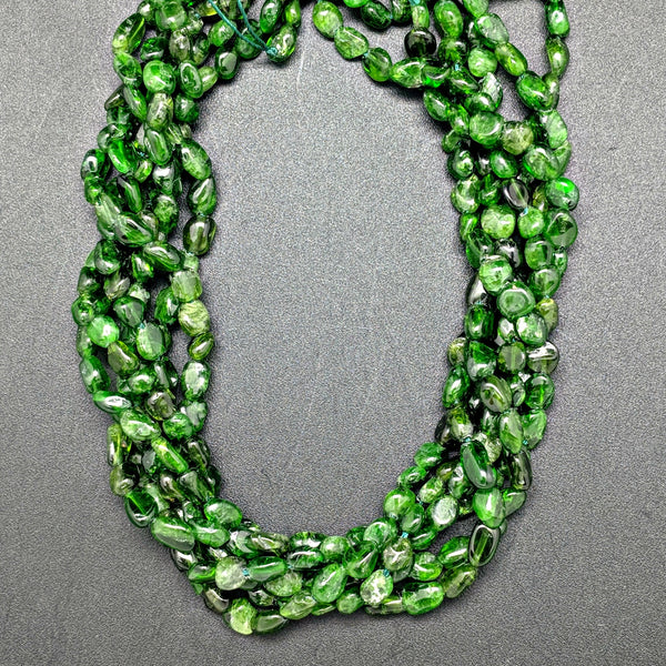 Chrome Diopside 6x5mm Oval Beads