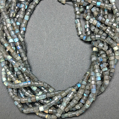 Labradorite 4x3mm Heishi Beads