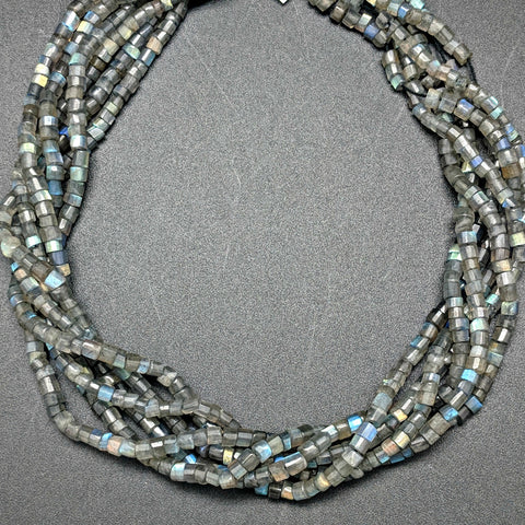 Labradorite 3x3mm Heishi Beads