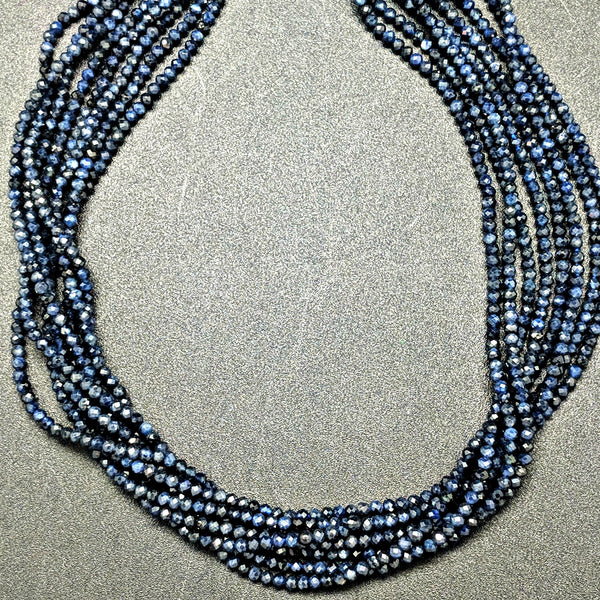 Sapphire 2mm Faceted Beads