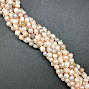 Multi-color Rosebud Pearls 6mm
