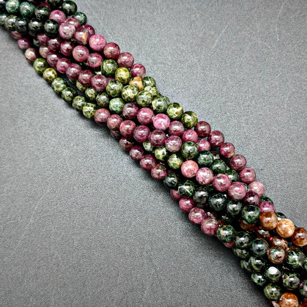 Multi-Color Tourmaline 6mm Beads