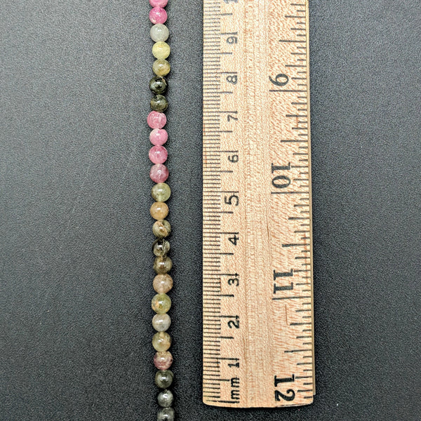 Watermelon Tourmaline 4mm Beads