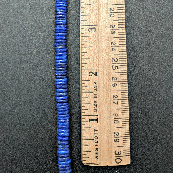 Lapis Flat 7mm Coin Beads