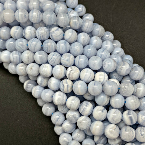 Blue Lace Agate 8mm Beads
