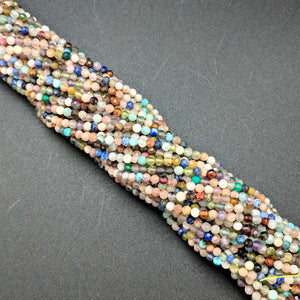 Multi-color Glass 2mm Beads