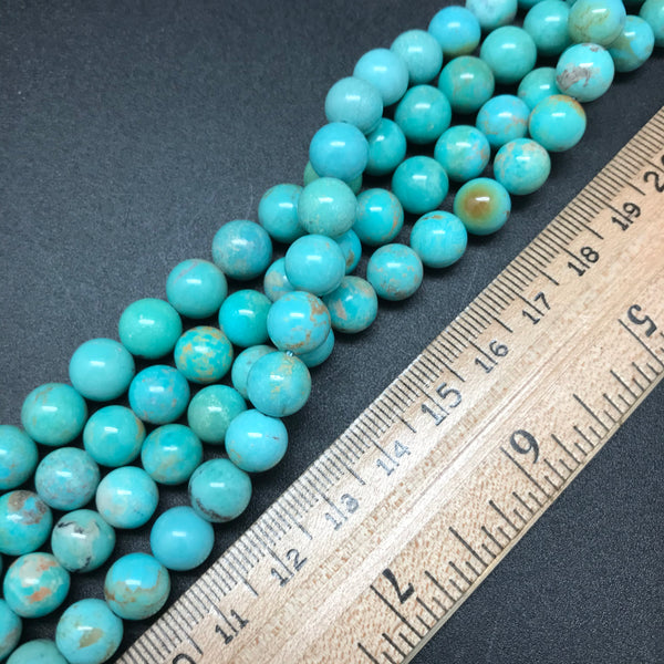 Turquoise, Blue-Green, 8mm Round