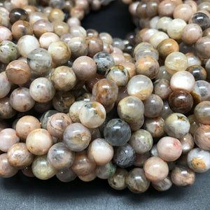Patchwork Moonstone Round Beads - 8mm