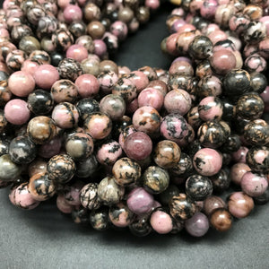 Rhodonite Round Beads - 8mm