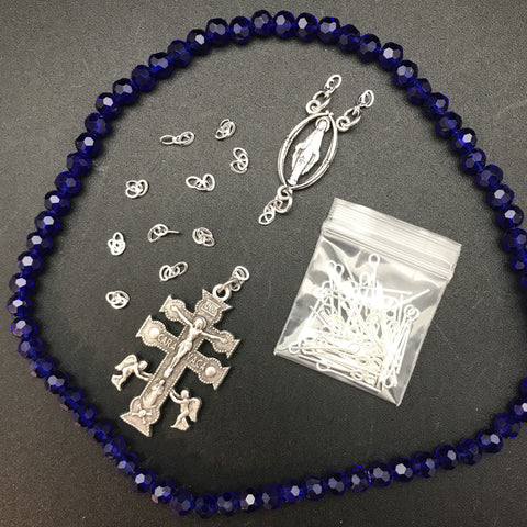 Rosary Kit: Cobalt Crystal