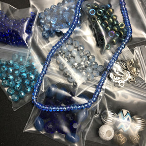 Stretch Bracelet Kit: Blue Shades