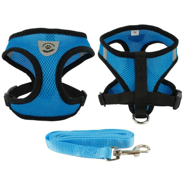 New Soft Breathable Air  Dog Harness and Leash Set
