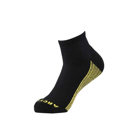 Black Athletic Quarter Sock | athletic socks | ArchTek