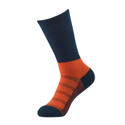 Navy/Orange 2-tone Dress Sock | dress socks | ArchTek