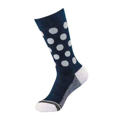 Navy/White Dots Dress Sock | dress socks | ArchTek