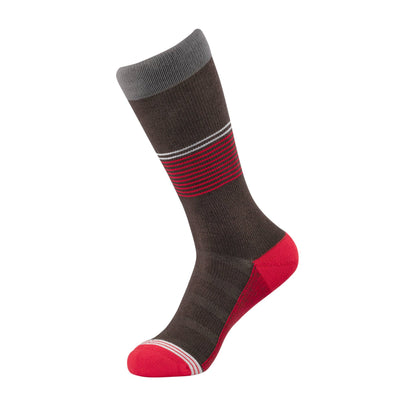 Chocolate/Red Striped Dress Sock | dress socks | ArchTek