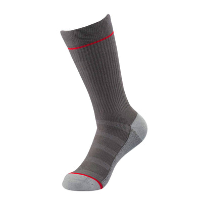 Pebble Grey Ribbed Athletic Socks | athletic socks | ArchTek