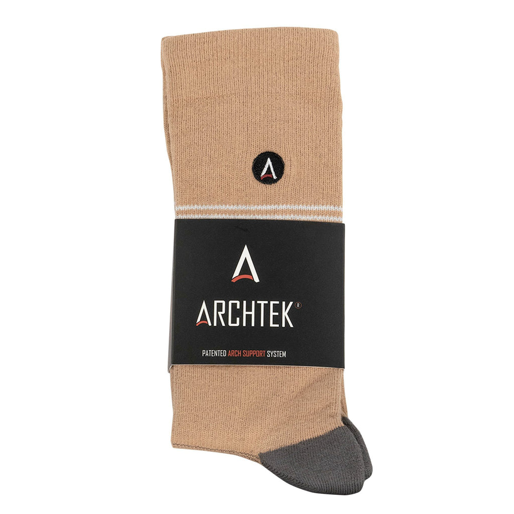 Taupe/Pink Striped Dress Sock | dress socks | ArchTek