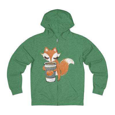 Basic Fox - Unisex French Terry Zip Hoodie