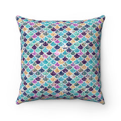 Scales - Spun Polyester Square Pillow