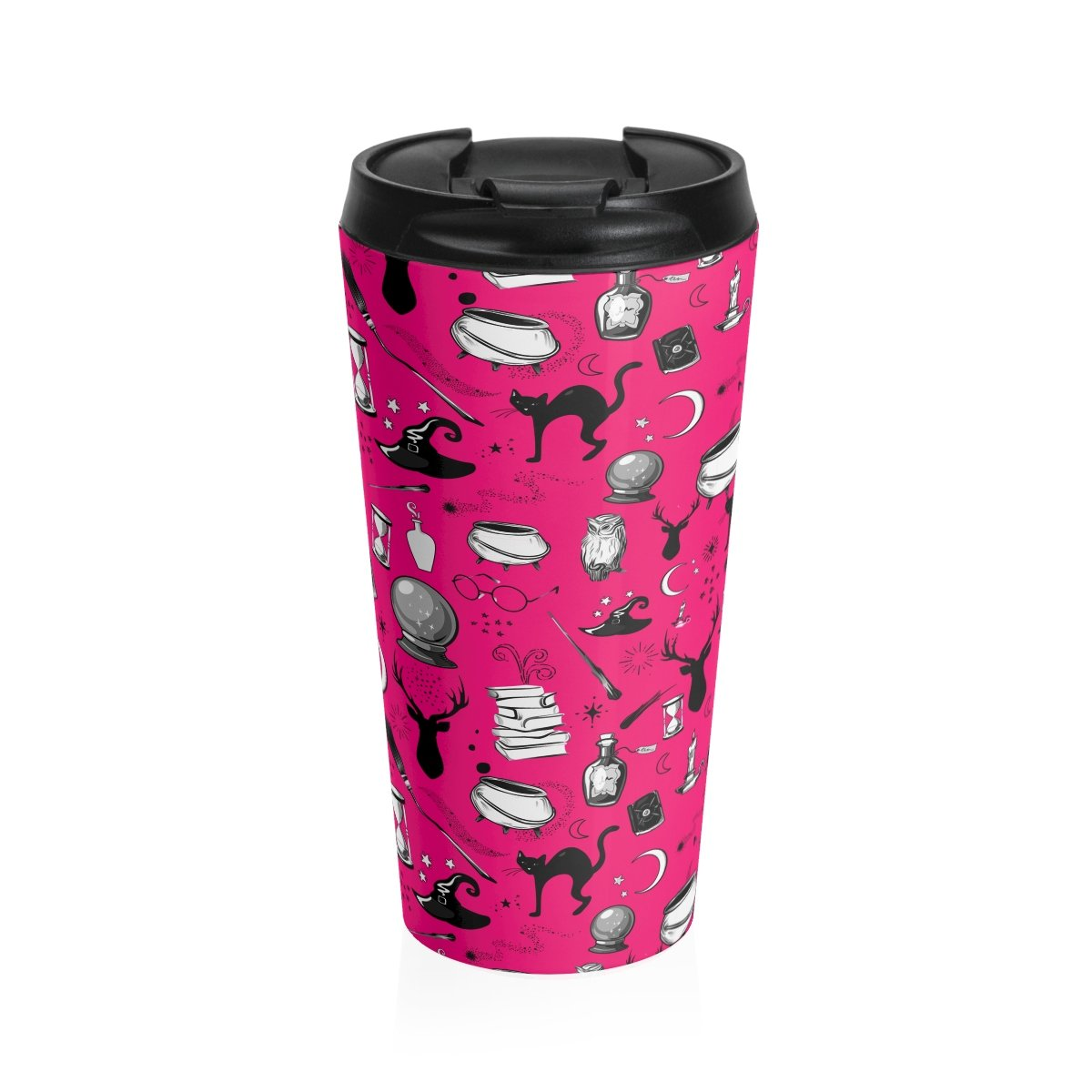 Magic - Stainless Steel Travel Mug (Hot Pink)