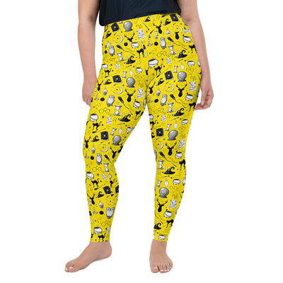 Magic - Full Length Plus Size Leggings (Yellow)