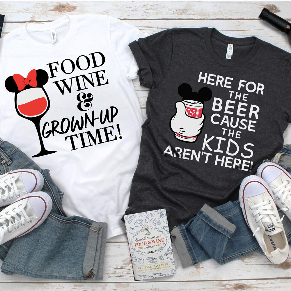 Epcot Food and Wine Couple Shirt