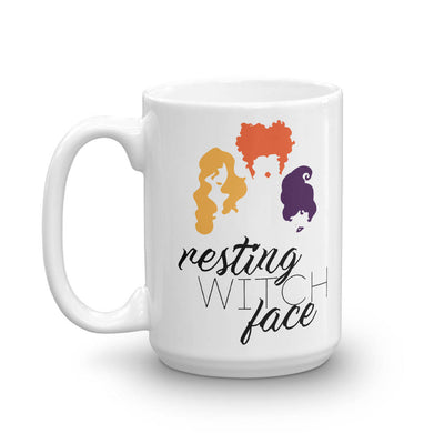 Hocus Pocus Resting Witch Face 15oz White Mug