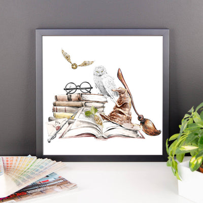 Witchcraft and Wizardry - Whimsical Framed Print