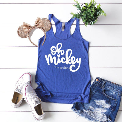 Oh Mickey You So Fine Disney Tank Top, Disney Women's Tank, Disney Shirt For Women, Cute Disney Shirt