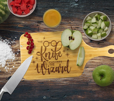 The Knife Chooses The Wizard - Custom Cutting Board