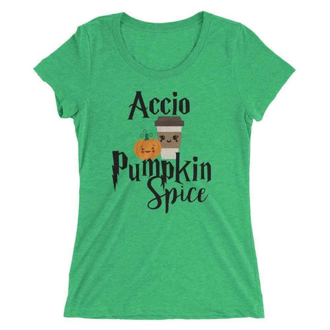 Accio Pumpkin Spice Shirt Green Triblend / S T-Shirt
