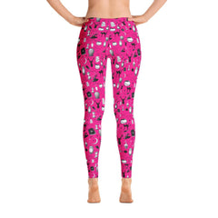 Magic - Full Length Leggings (Hot Pink)