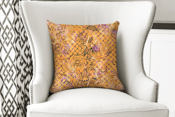 Lace Bones - Throw Pillow