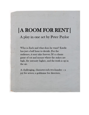 A Room for Rent by Peter Paylor