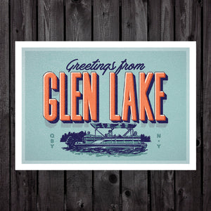 Glen Lake Print & Postcard