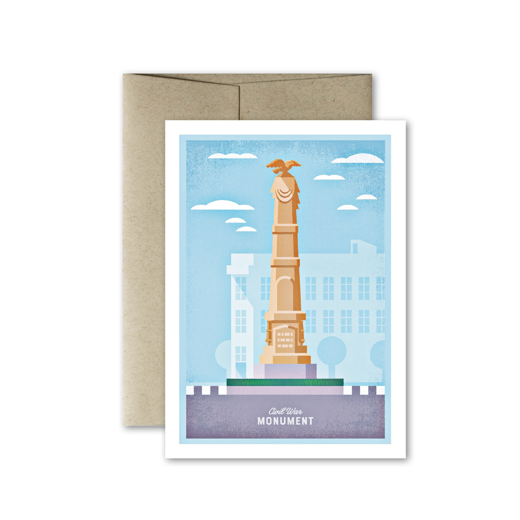 Glens Falls Civil War Monument Card