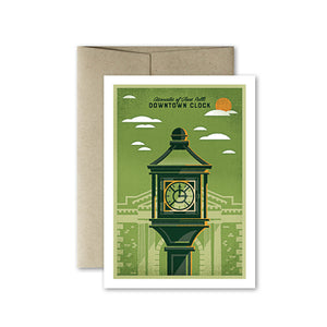 Glens Falls Downtown Clock Card