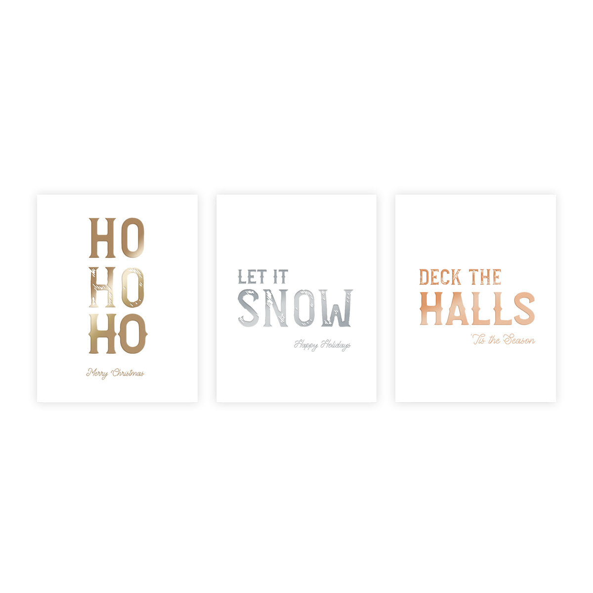 Foil Holiday Boxed Set of 6